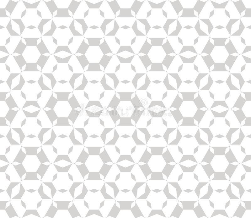 Subtle vector geometric seamless pattern. Delicate white and light gray texture stock illustration