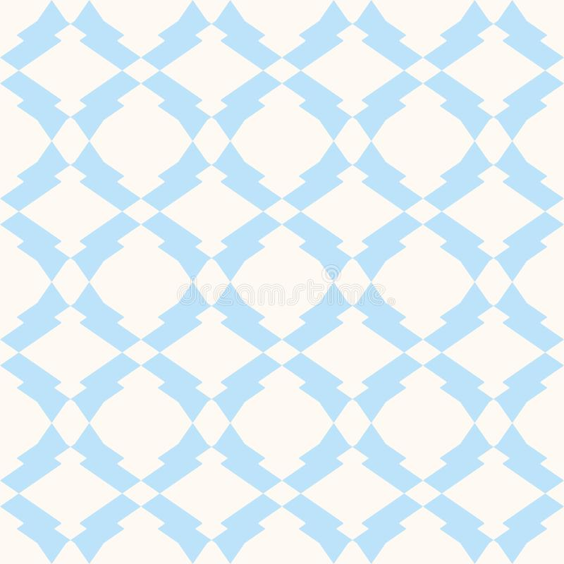 Subtle seamless pattern in white and light blue colors. Delicate ornament background. stock illustration