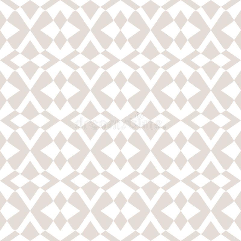 Subtle vector seamless pattern with star shapes, cross lines, rhombuses. Elegant modern design stock illustration