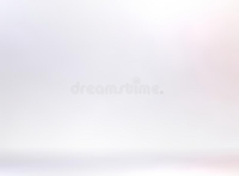 Subtle white 3d background. Light blank studio illustration. Empty wall and floor. stock illustration