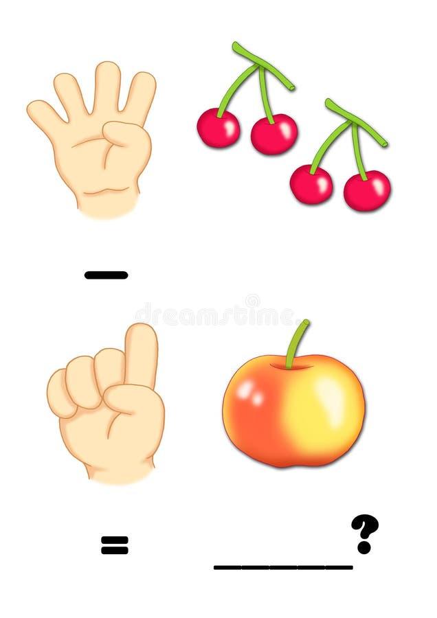 subtraktion vektor illustrationer