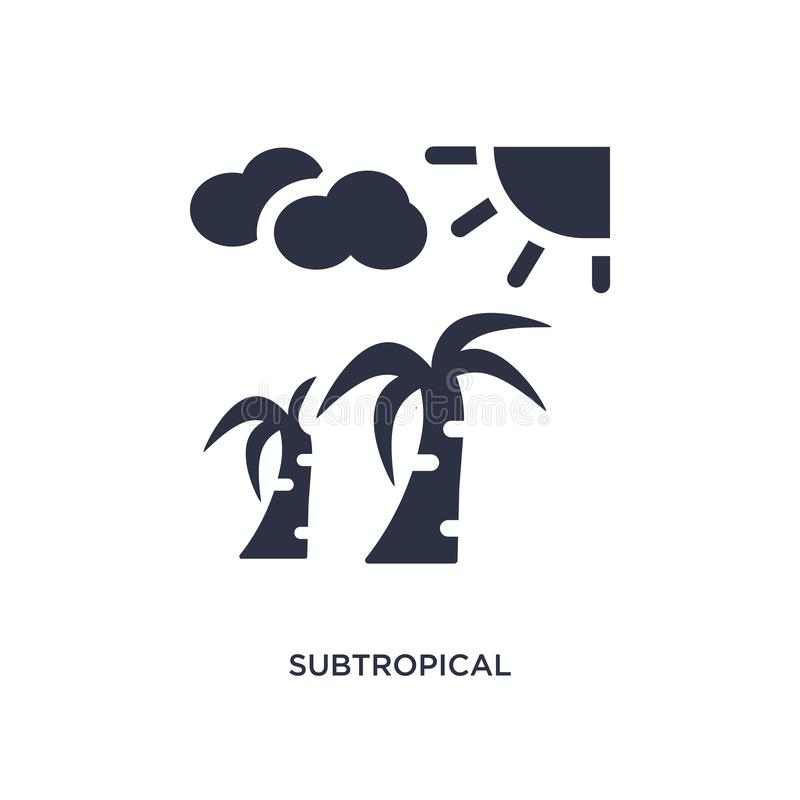 subtropical climate icon on white background. Simple element illustration from weather concept royalty free illustration