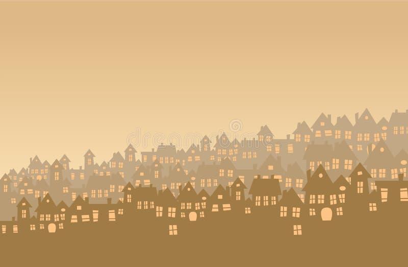 Download Suburb stock vector. Image of dusk, minimal, daybreak - 22033325