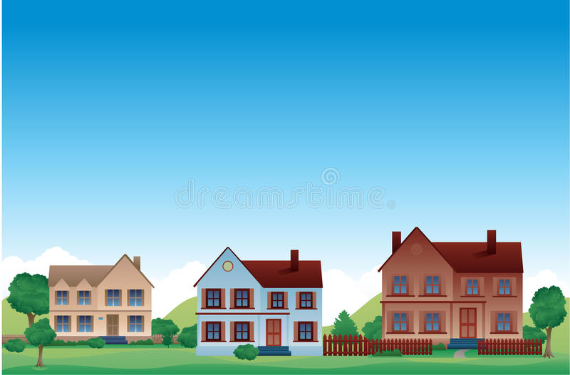 Download Suburb  background stock illustration. Illustration of proprietary - 25836984