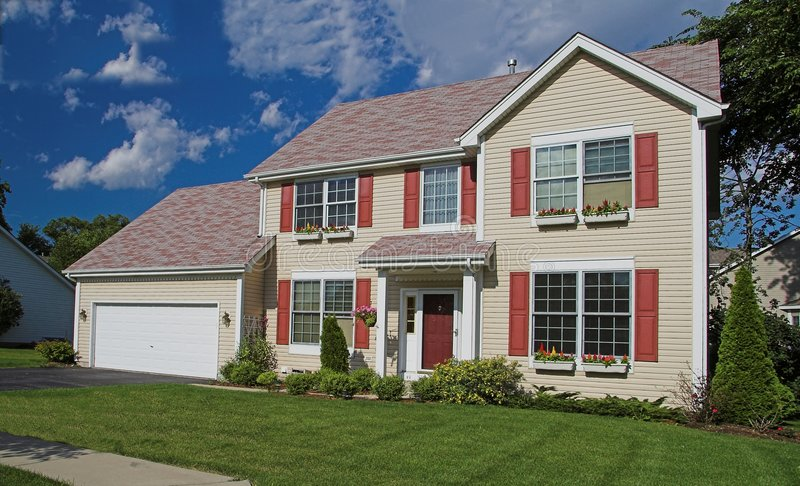 Suburban american home royalty free stock images