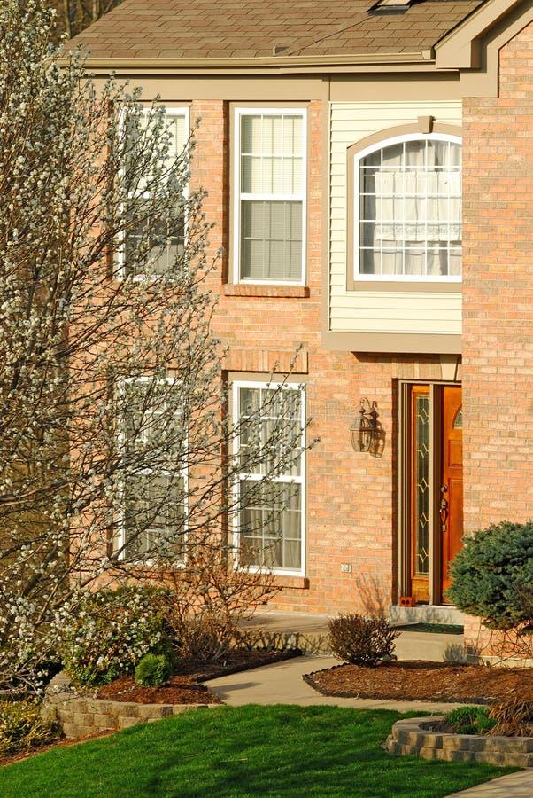 Suburban Brick Home stock photography