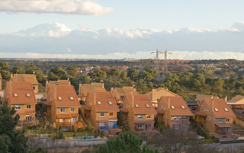 Suburban Expansion stock images