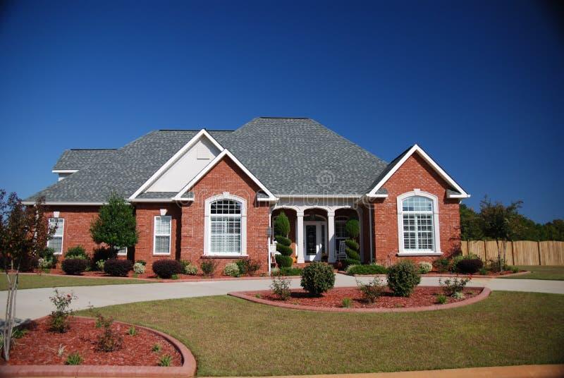 Download Suburban Home stock image. Image of landscape, shrubs - 3545175