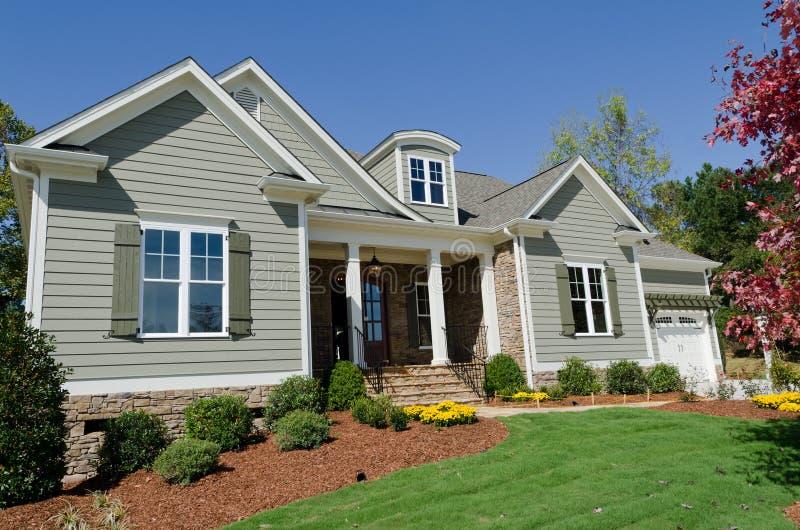 Suburban house stock image