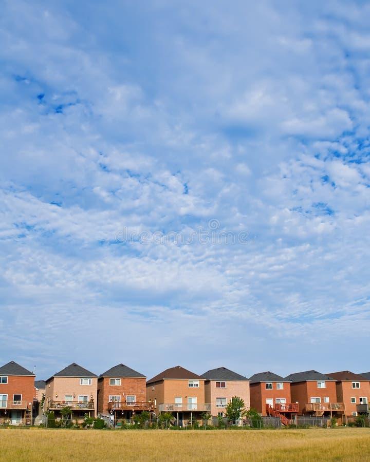 Suburban houses royalty free stock photo