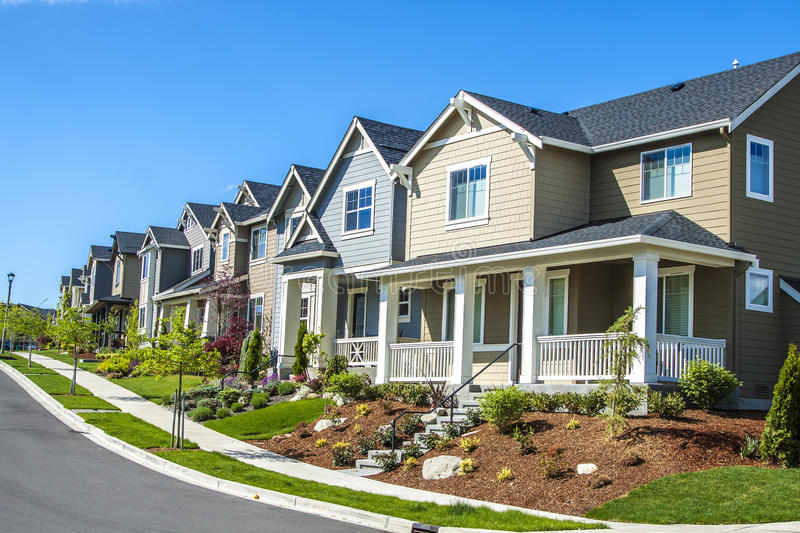 Suburban houses stock photography