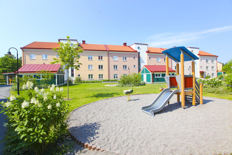 Download Suburban Houses And Playground Stock Photo - Image of homes, facade: 20461366