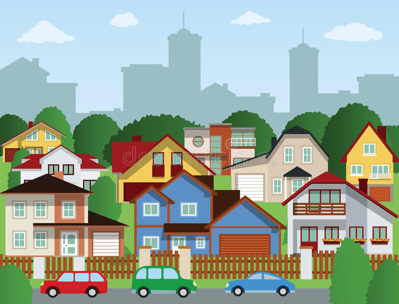 Download Suburban Houses Royalty Free Stock Photo - Image: 34109885