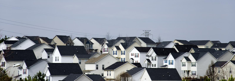 Download Suburban landscape stock image. Image of affordable, grid - 18502909