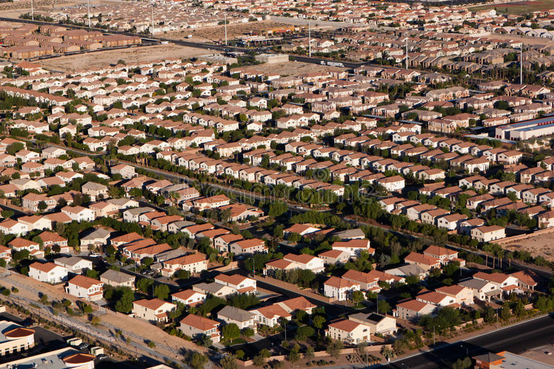 Download Suburban Neighborhood, Aerial View Stock Photo - Image: 26087420