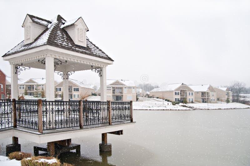Download Suburban Neighborhood Homes On The Water Stock Image - Image: 14516483