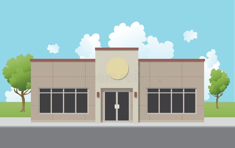 Suburban Office Building royalty free illustration