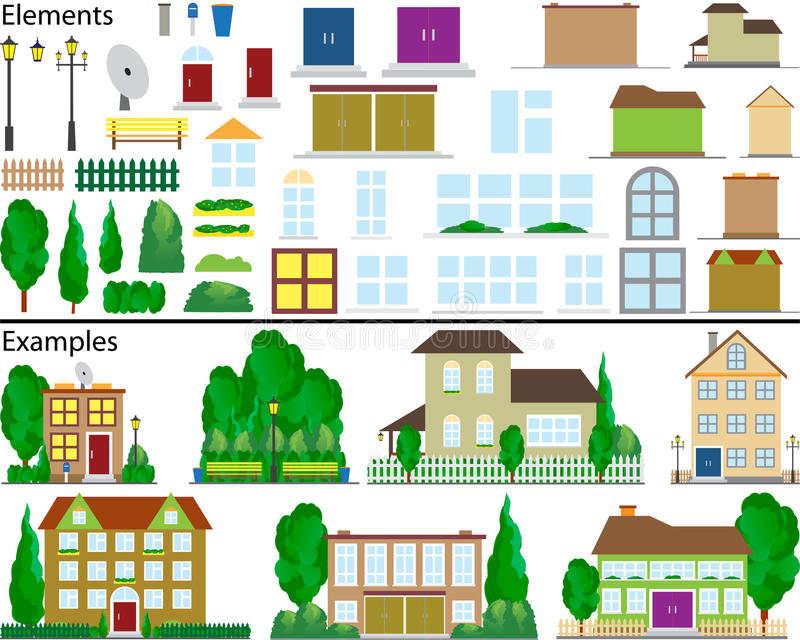 Download Suburban Small Houses. Royalty Free Stock Photography - Image: 14094317