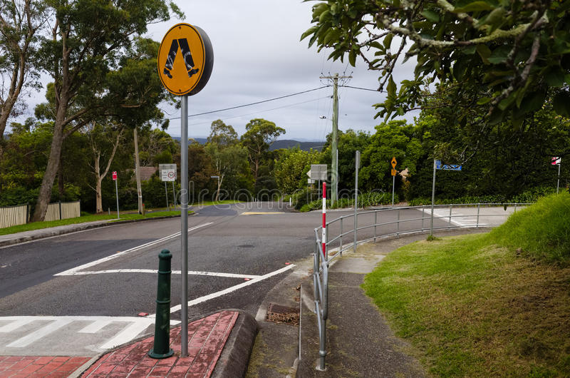 Suburban Street. A suburban street in Hazelbrook, Blue Mountains, New South Wales, Australia royalty free stock photo