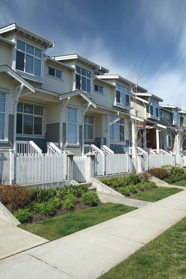 Suburban Townhomes stock image