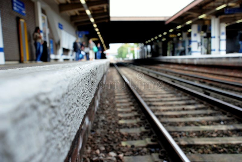 Suburban tracks, London royalty free stock photos