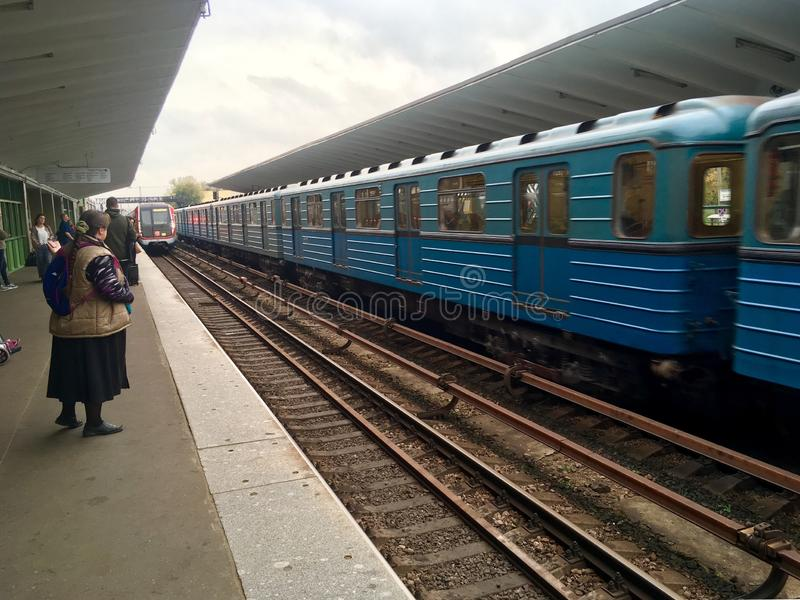 Suburban train in Russi.a. Suburban train in Moscow, Russia royalty free stock photography