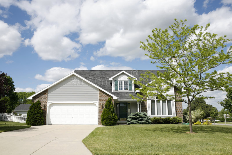 Suburban two-story home royalty free stock photography