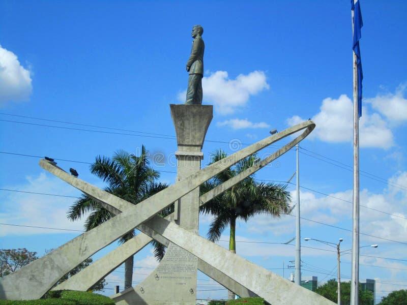 Suburbana van Rotondala, Managua, Nicaragua royalty-vrije stock fotografie