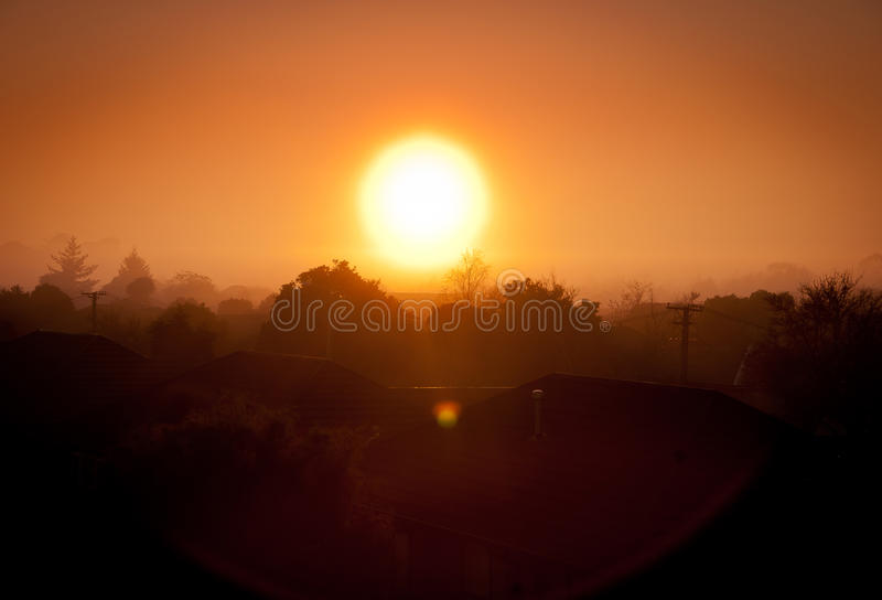 Download Suburbia stock photo. Image of roof, sunset, christchurch - 26476560