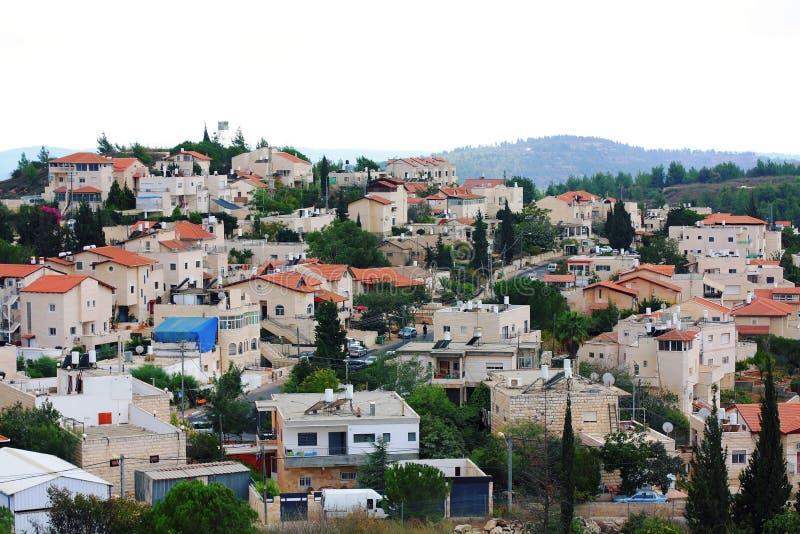 Suburbio de Jerusalén fotografía de archivo