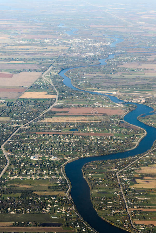 Suburbio de la ciudad de Edmonton foto de archivo libre de regalías