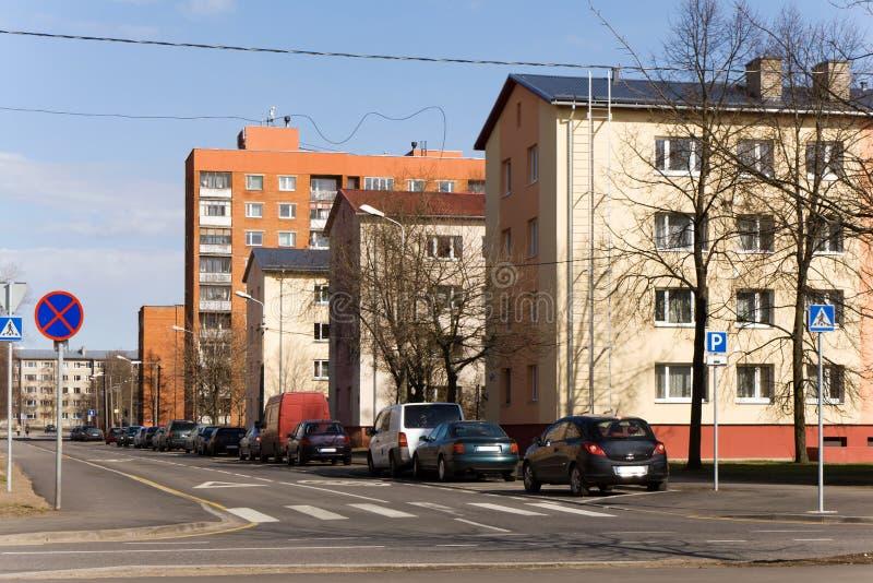 Suburbio de Tallinn imágenes de archivo libres de regalías