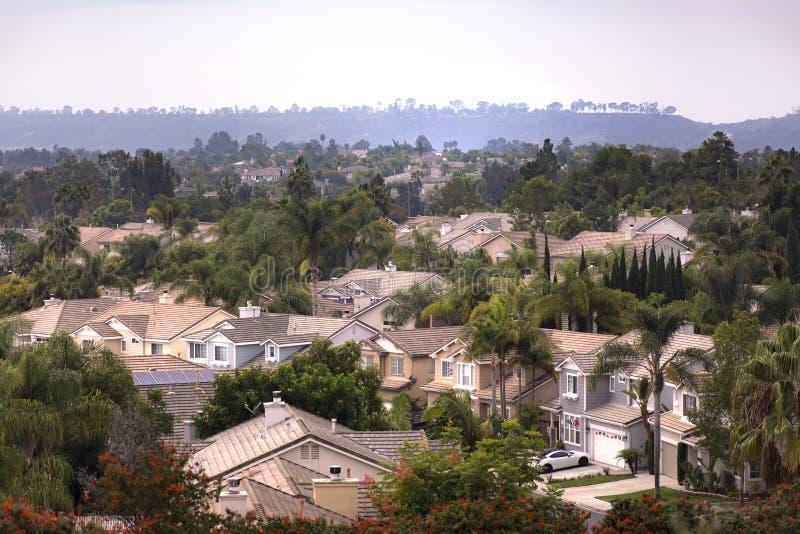 Suburbios de California meridional imagen de archivo