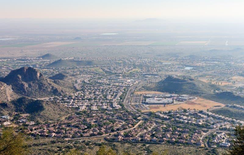 Suburbs of Arizona stock photo