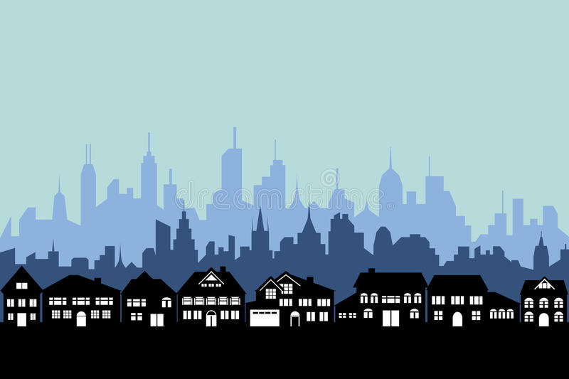 Suburbs And Urban City Stock Images