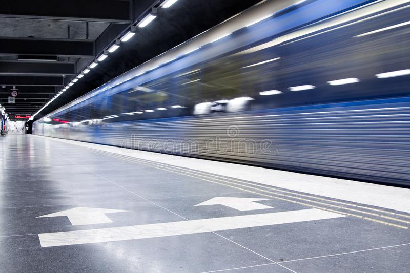 Download Subway stock photo. Image of rails, subway, motion, station - 8318990