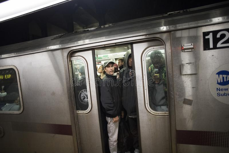 Subway commuters royalty free stock photos