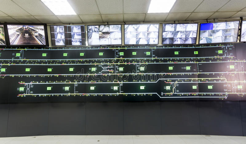 Subway control room stock images