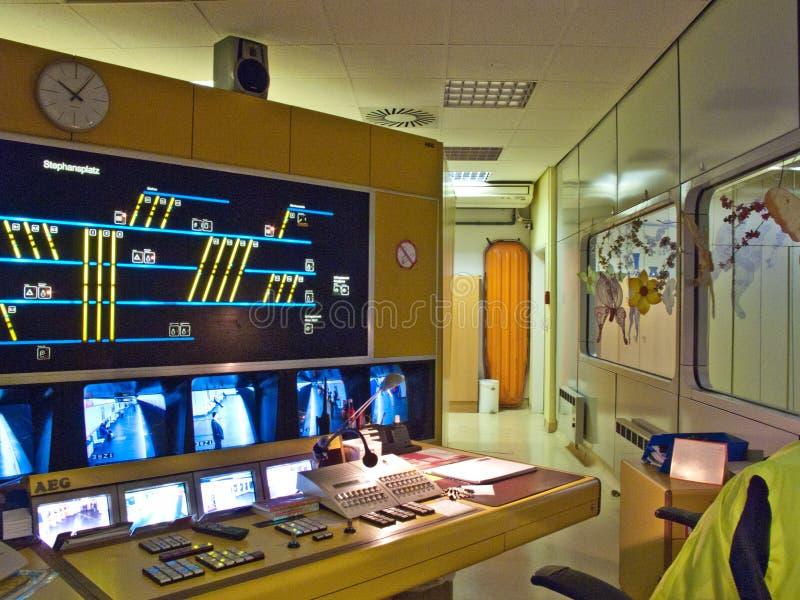 Subway control station stock photo