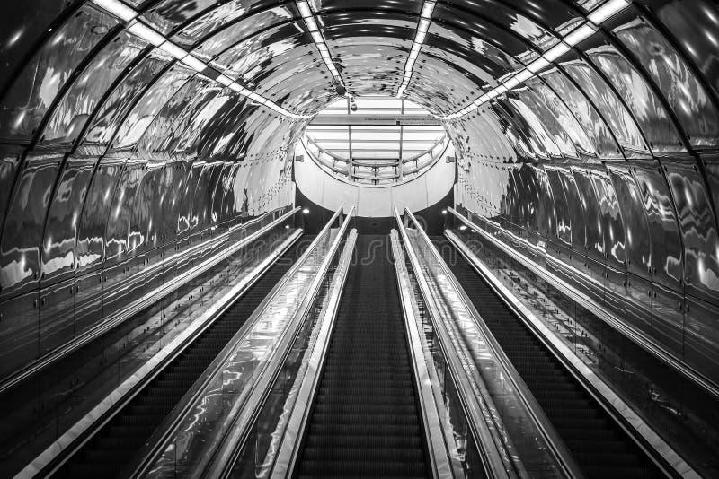 Subway escalator royalty free stock images