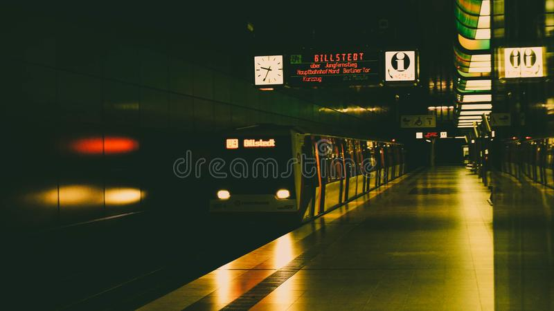 Subway - Hamburg royalty free stock photography