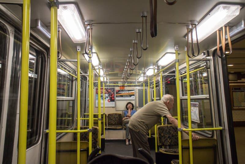 subway interior budapest editorial image image of people 57578705. Black Bedroom Furniture Sets. Home Design Ideas