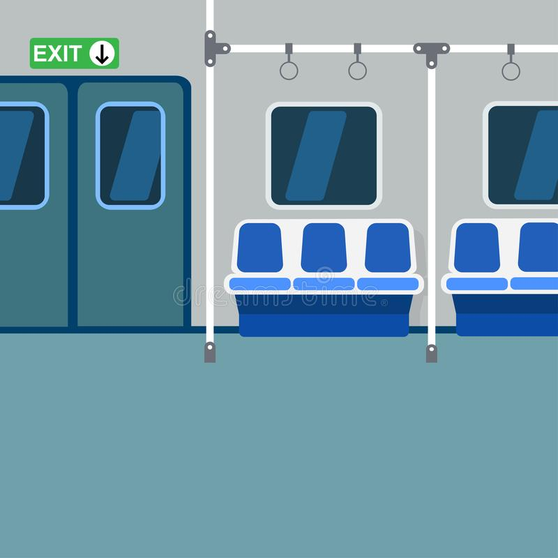 Download Subway Interior: Doors, Windows, Seats And Rails Stock  Illustration   Illustration Of