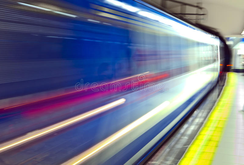 Subway in Madrid royalty free stock image