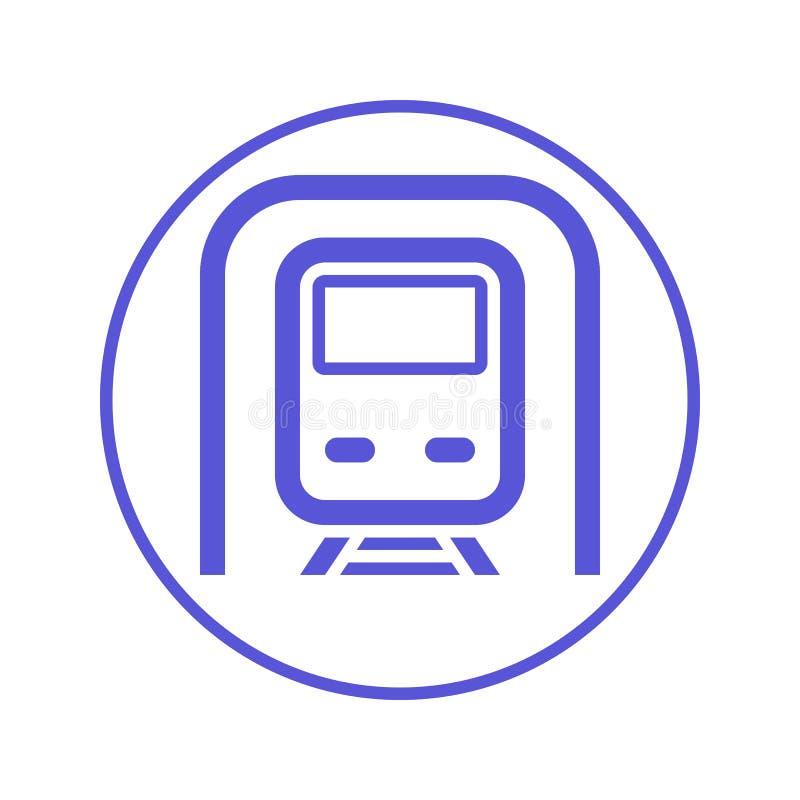 Subway Metro Circular Line Icon Round Sign Flat Style Vector