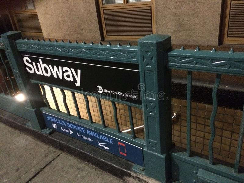 subway in new york city royalty free stock images