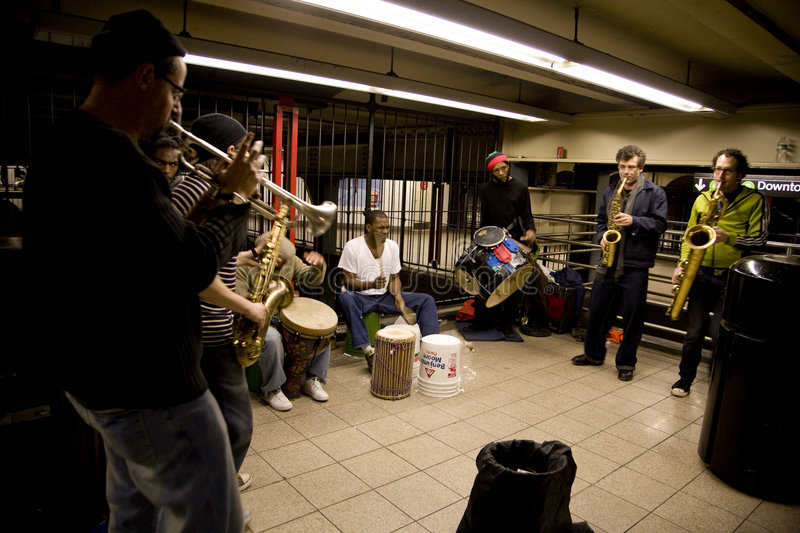 Subway Performers Editorial Stock Image