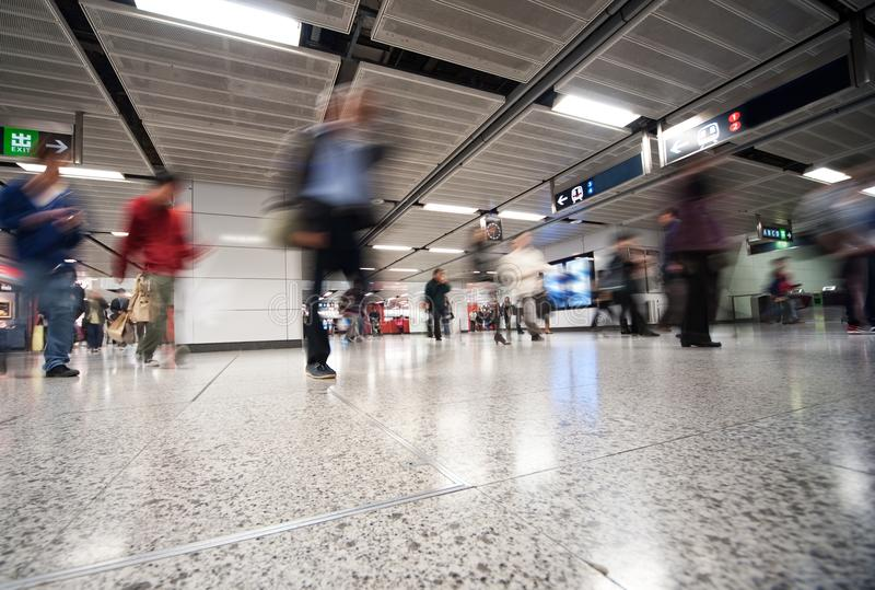 Subway at rush hour. Picture of a Subway at rush hour stock images