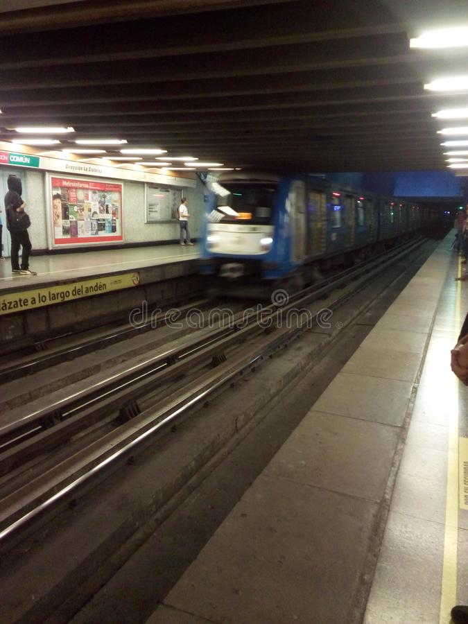 Subway on santiago chile. work stock photography