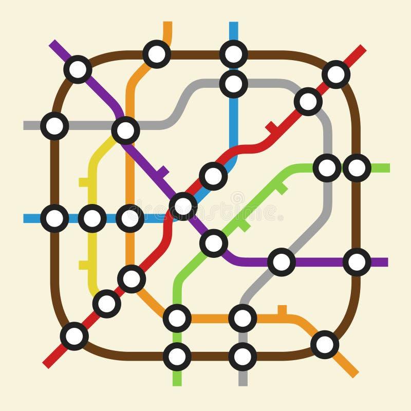 Subway scheme icon royalty free illustration